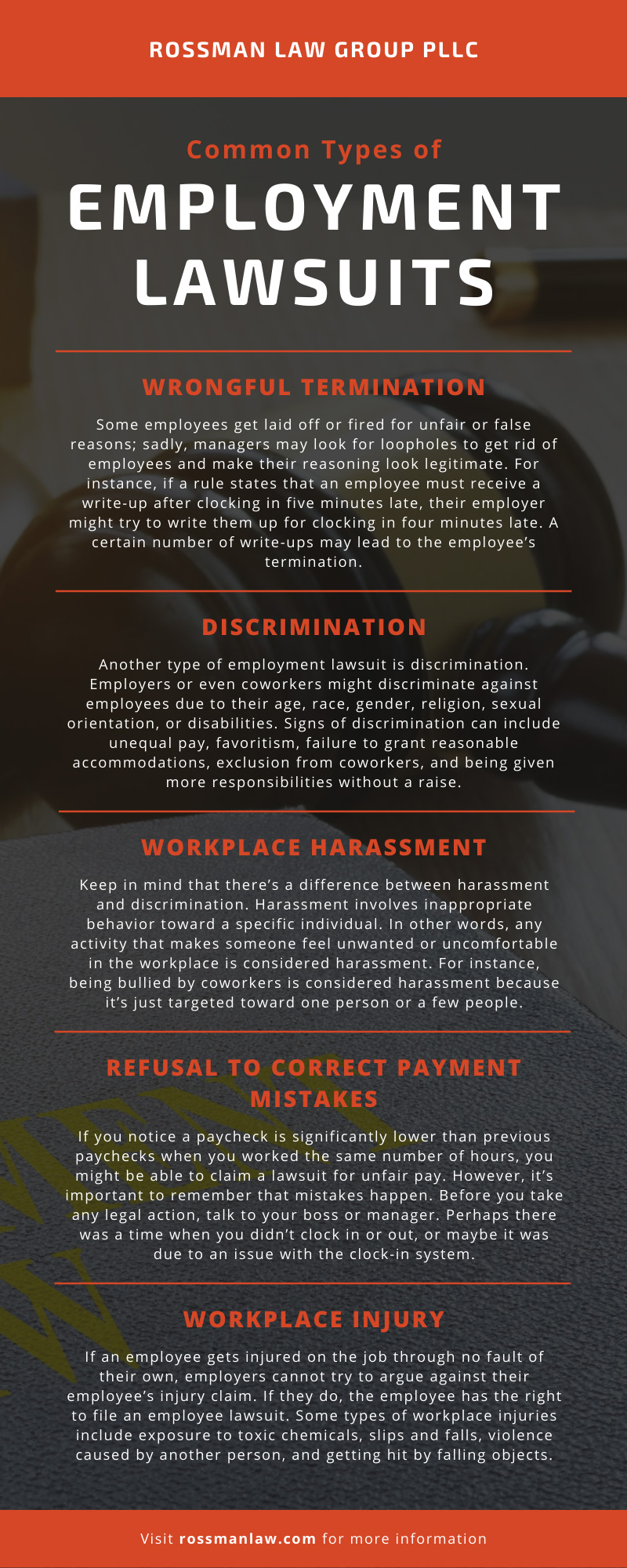 Types of Employment Lawsuits